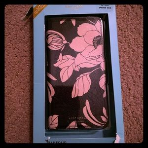 New in box Kate Spade iPhone XS/X phone case